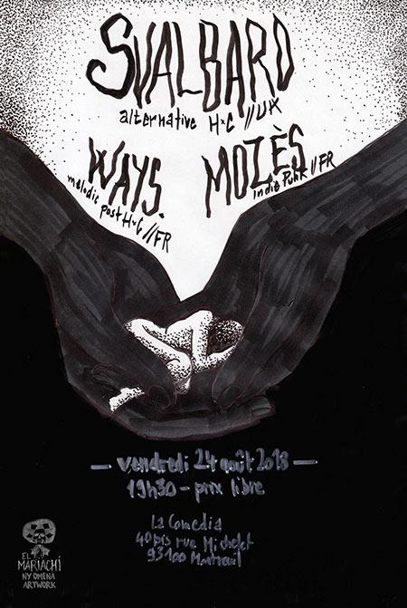 Svalbard x Ways. x Mozès // La Comedia le 24/08/2018 à Montreuil (93)