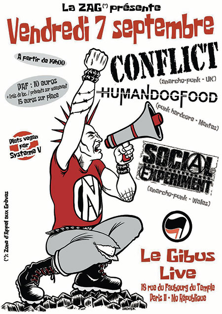 CONFLICT + SOCIAL EXPERIMENT + HUMAN DOG FOOD le 07/09/2018 à Paris (75)