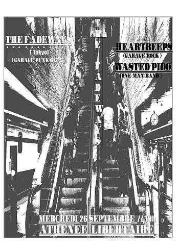 THE FADEWAYS (Garage Punk / Tokyo) + HEARTBEEPS (Garage Rock) le 26/09/2018 à Bordeaux (33)