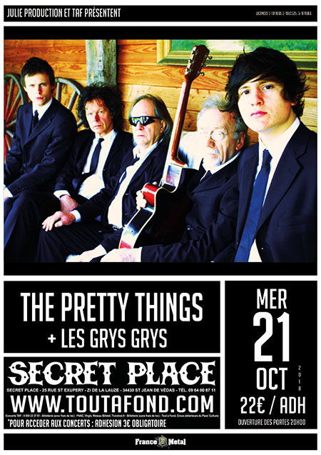Pretty Things @ Secret Place le 21/10/2018 à Saint-Jean-de-Vedas (34)
