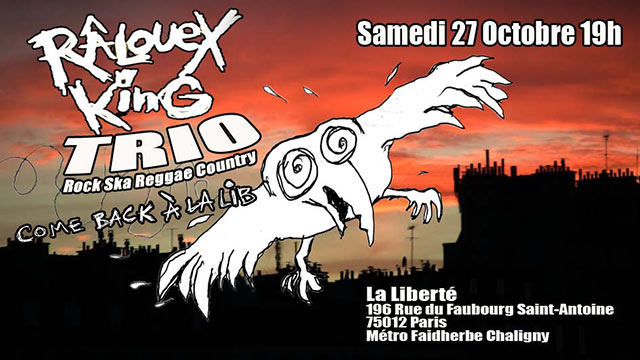 Râlouex King Trio à la Lib le 27 octobre 2018 à Paris (75)