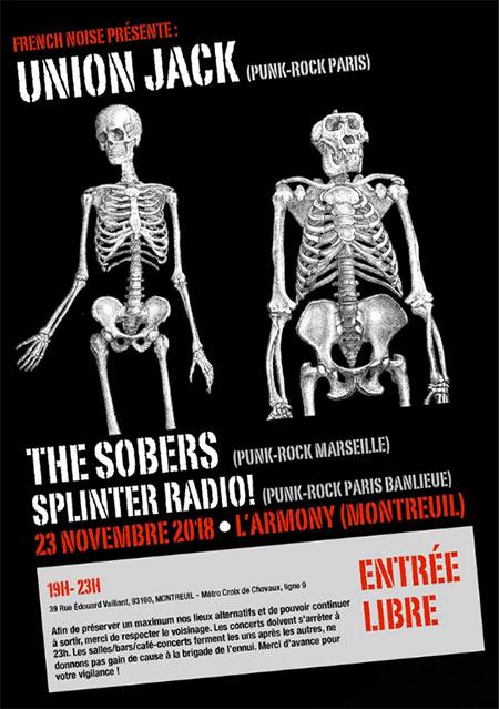 Union Jack // The Sobers // Splinter Radio le 23/11/2018 à Montreuil (93)