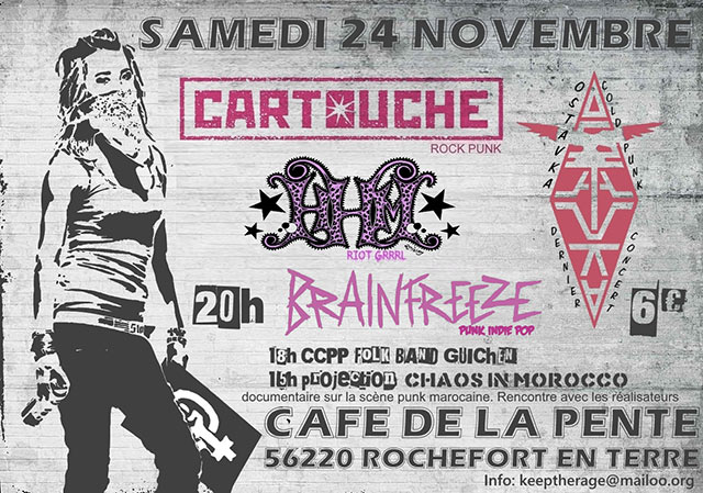 Concert au Café de la Pente le 24/11/2018 à Rochefort-en-Terre (56)