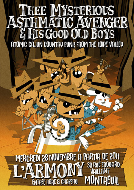 Thee Mysterious Asthmatic Avenger & His Good Old Boys @ L'Armony le 28 novembre 2018 à Montreuil (93)