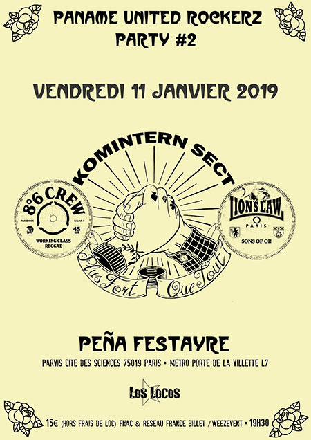 Paname United Rockerz Party #2 le 11/01/2019 à Paris (75)