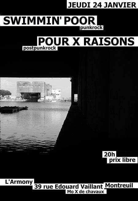Swimmin' Poor x Pour X Raisons le 24/01/2019 à Montreuil (93)