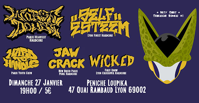 Worst Doubt / Self Esteem / Hard To Handle / Jaw Crack / Wicked le 27 janvier 2019 à Lyon (69)