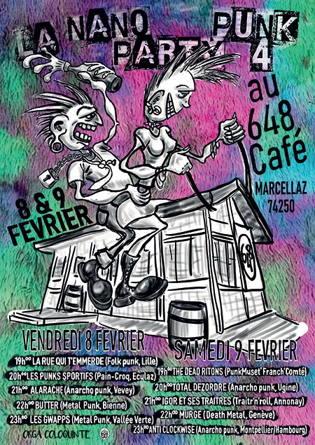 La Nano Party Punk 4 le 08 février 2019 à Marcellaz (74)