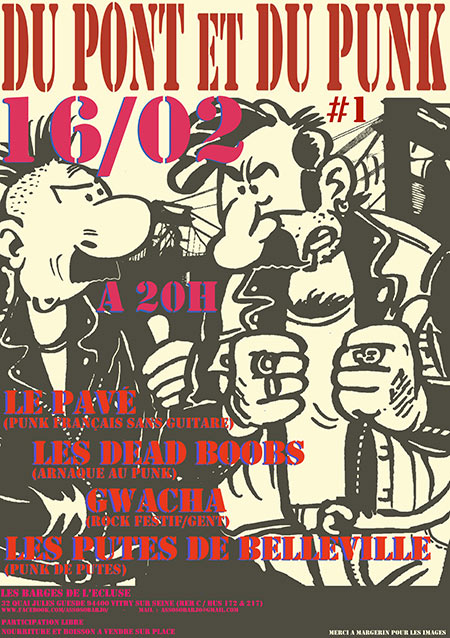 Du Pont et Du Punk #1 aux Barges de l'Écluse le 16/02/2019 à Vitry-sur-Seine (94)