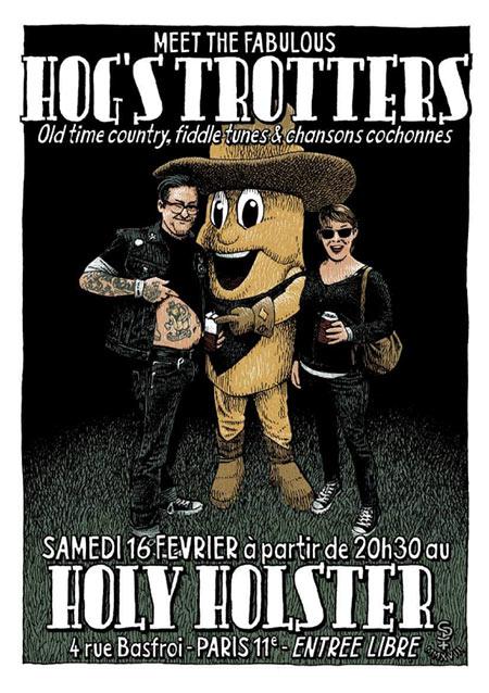 Les Hog's Trotters au Holy Holster le 16/02/2019 à Paris (75)