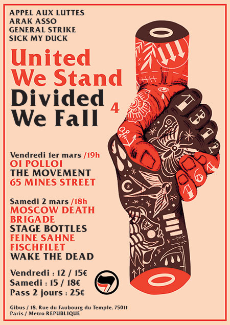 UNITED WE STAND DIVIDED WE FALL 4 le 01/03/2019 à Paris (75)