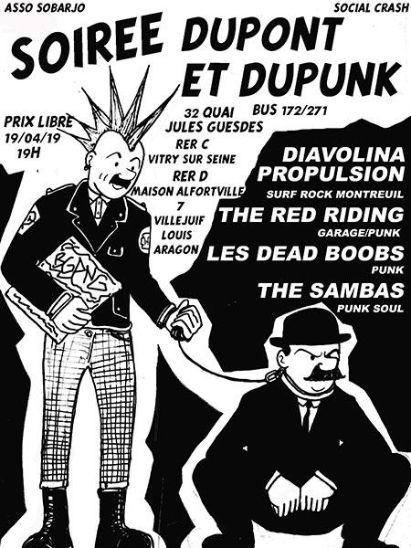 Soirée Du Pont et Du Punk le 19/04/2019 à Vitry-sur-Seine (94)
