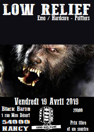 Low Relief + guests le 19/04/2019 à Nancy (54)