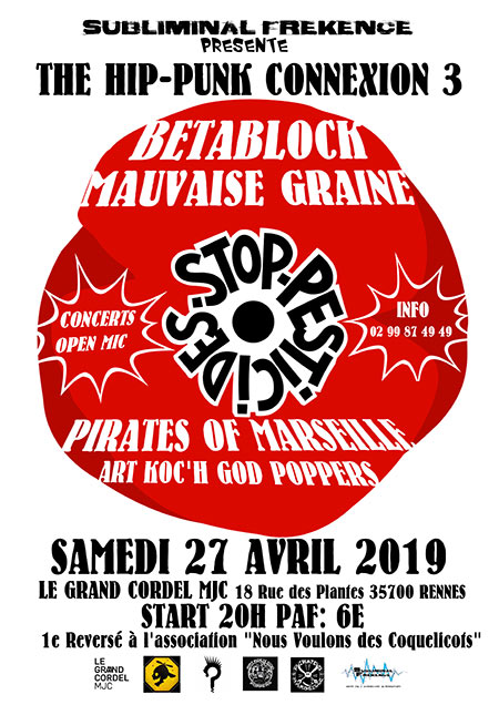The Hip-Punk Connexion #3 au Grand Cordel MJC le 27 avril 2019 à Rennes (35)