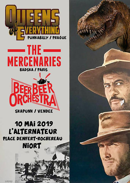 Queens of Everything // The Mercenaries // Beer Beer Orchestra le 10 mai 2019 à Niort (79)