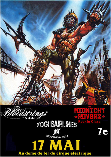 The Bloodstrings + Yogi Bairlines + The Midnight Rovers le 17/05/2019 à Paris (75)