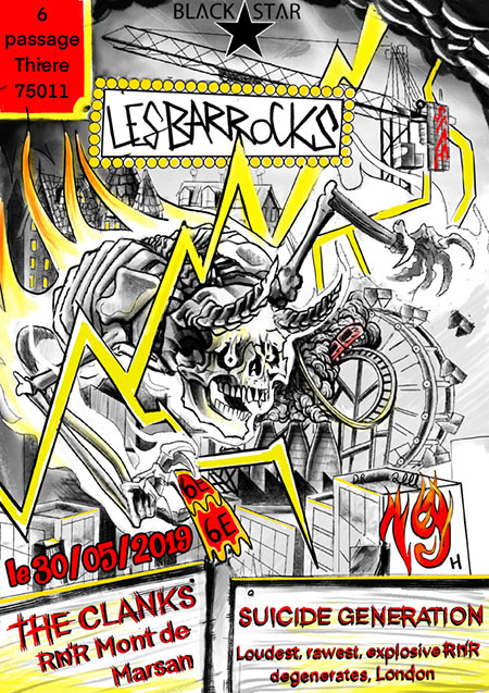 Les Barrocks (S35, ep5) : Suicide Generation, Clanks le 30 mai 2019 à Paris (75)