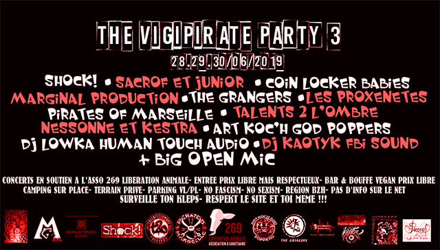 The VigiPirate Party #3 le 29 juin 2019 à Bovel (35)