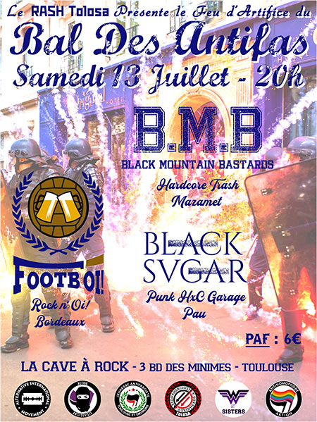 Black Mountain Bastards / Black Sugar / Footb'Oi! le 13 juillet 2019 à Toulouse (31)