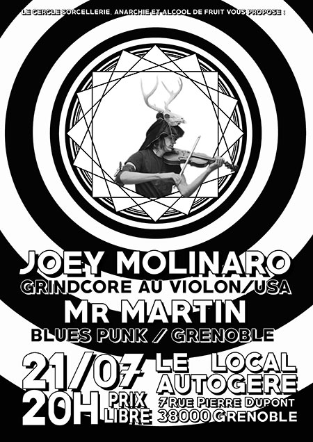 Joey Molinaro + Mr Martin le 21/07/2019 à Grenoble (38)