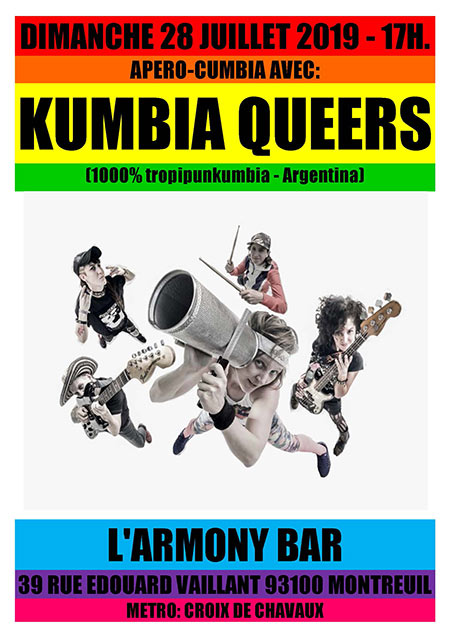 KUMBIA QUEERS @ ARMONY BAR le 28 juillet 2019 à Montreuil (93)