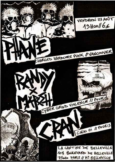 PHANE / RANDY x MARSH / CRAN @ la Cantine de Belleville le 23/08/2019 à Paris (75)
