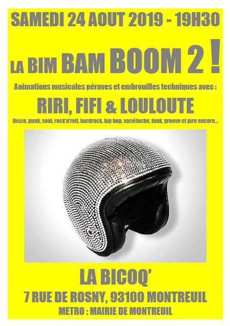 LA BIM BAM BOUM ! #2 à LA BICOQ' le 24/08/2019 à Montreuil (93)