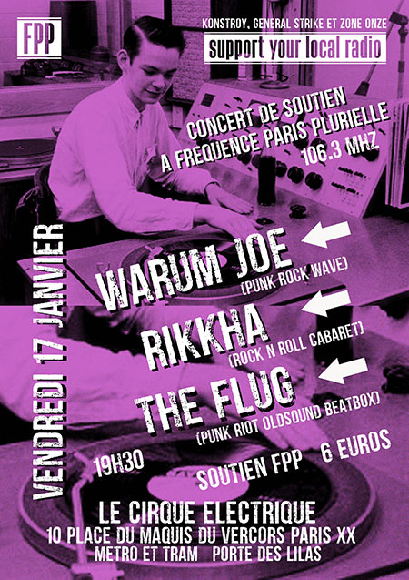 WARUM JOE + RIKKHA + THE FLUG le 17 janvier 2020 à Paris (75)