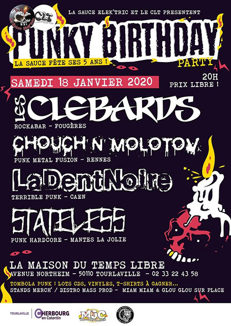 Punky Birthday Party le 18 janvier 2020 à Tourlaville (50)
