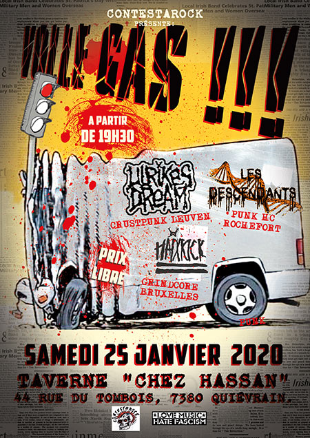 HaiXkicK + Les Descendants + Ulrikes Dream le 25 janvier 2020 à Quiévrain (BE)