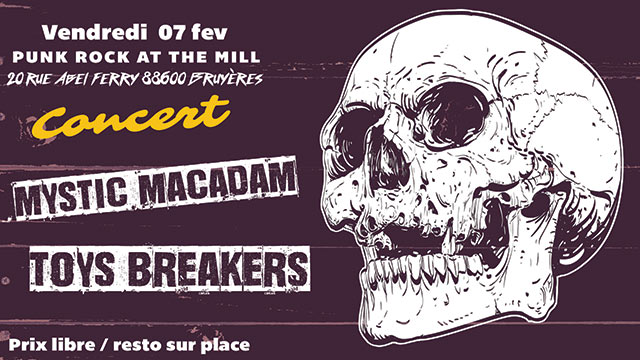 Punk Rock at the Mill #3 à l'Usine du Moulin le 07 février 2020 à Bruyères (88)