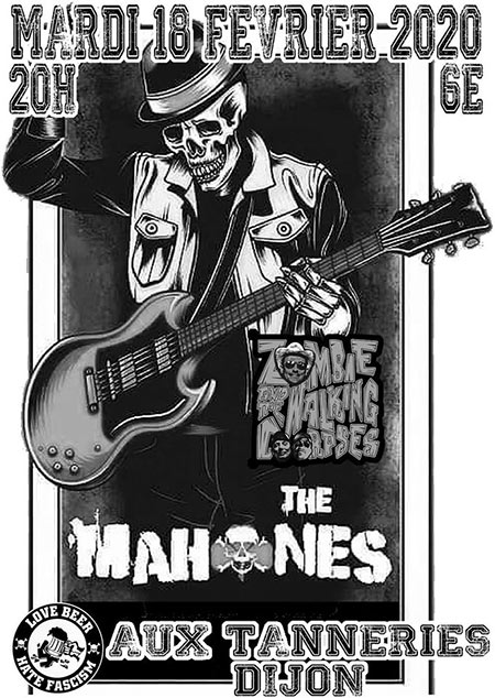 The Mahones + Zombies and the Walking Corpses aux Tanneries le 18/02/2020 à Dijon (21)