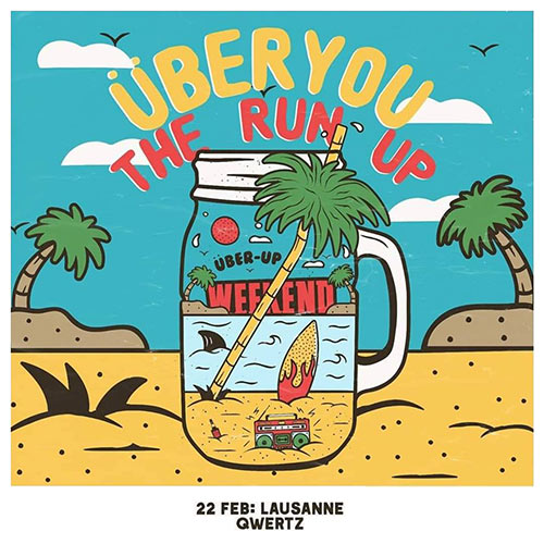 Überyou + The Run Up + Bottle Knowledge au Qwertz le 22 février 2020 à Lausanne (CH)