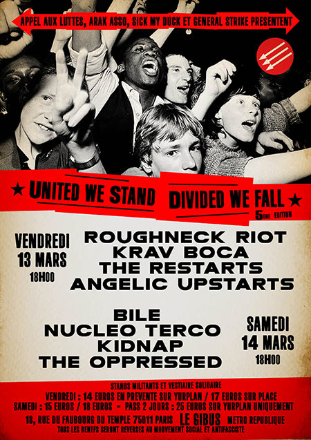 United We Stand - Divided We Fall #5 le 13 mars 2020 à Paris (75)
